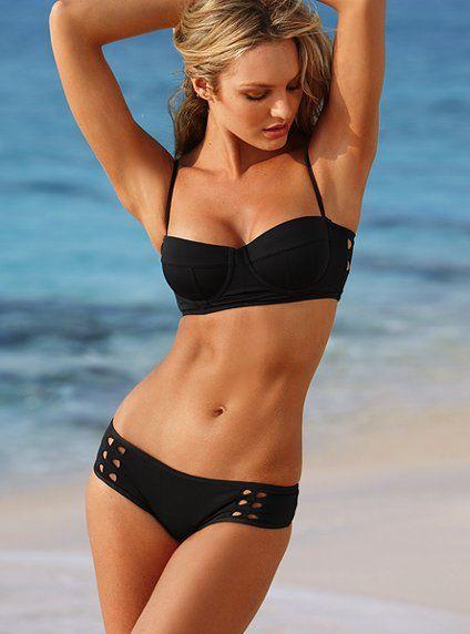 2013 New Fashion Sexy women bikini set VS Swimwear PUsh Up swimsuit beachwear black color-in Bikinis Set from Apparel & Accessories on Aliex...