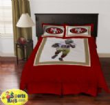 SAN FRANCISCO 49ERS FRANK GORE COMFORTER SET -  Experience the action and get in the game with your favorite San Francisco 49ers Frank Gore Comforter Set Comforter Set