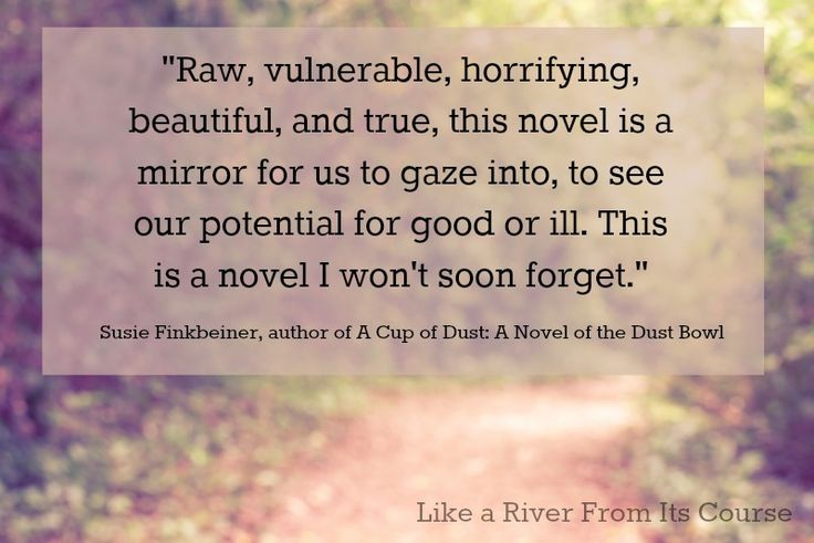 So thankful for this endorsement from Susie Finkbeiner! #RiverNovel