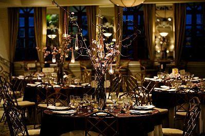 light brown tablecloths wedding - Google Search