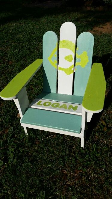 Trash to treasure Childs Adirondack chair I made for my little nephewu0027s birthday! Turned out : chaise adirondack - Sectionals, Sofas & Couches