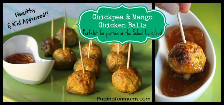 Chickpea & Mango Chicken Balls are sweet with a mild curry flavour - they're absolutely delicious! We discovered at a recent party that they are a HUGE hit ..