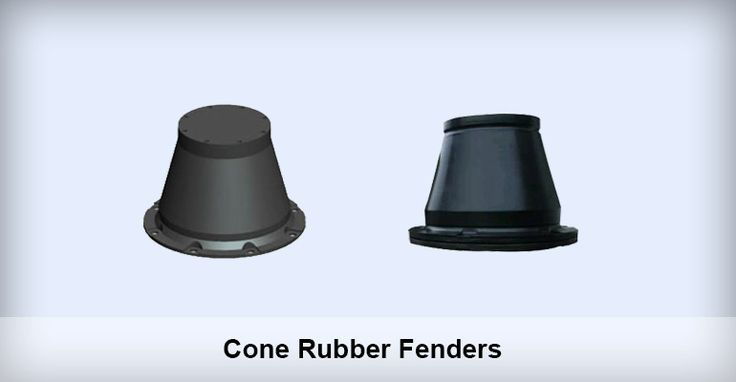 Cone Rubber Fenders Application of Cone Rubber Fenders 1. Ideal for docks requiring a fender system with low reaction force and high energy absorption. 2. Ideal for occasions requiring a small surface force across the external panels of ships. 3. Applicable for large sized docks like oil wharfs, container terminals.etc. 4. It can be used in any places where super cell rubber fender can be used.