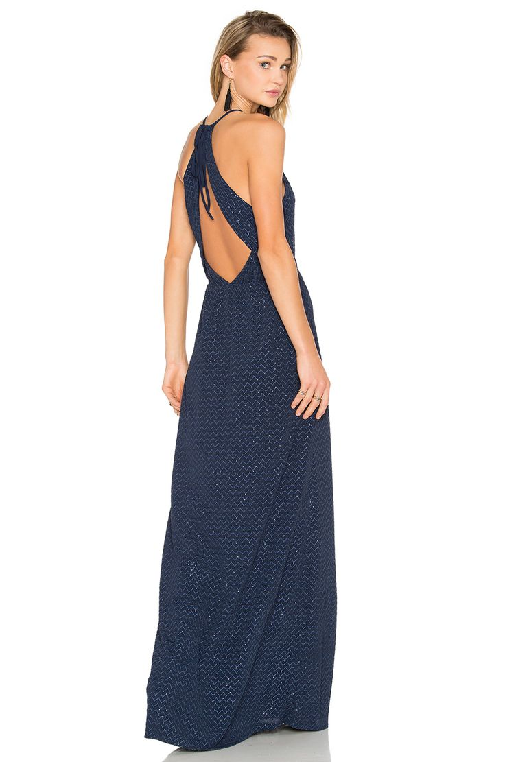 Hoss Intropia Embellished Maxi Dress in Navy Blue