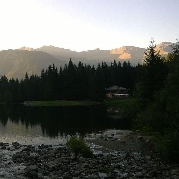 Lago dei Caprioli al tramonto, Fazzon, Val di Sole