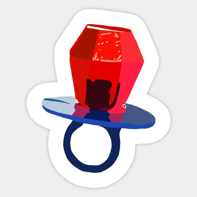 Ring pop candy sticker
