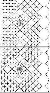 Resultado de imagen de plantillas de puntos de bolillos