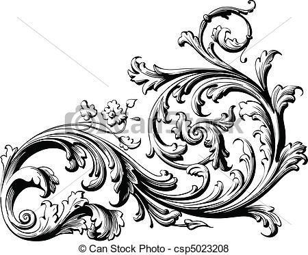 victorian filigree clip art art graph design ornimental tattoo floral scrolls body art. Black Bedroom Furniture Sets. Home Design Ideas