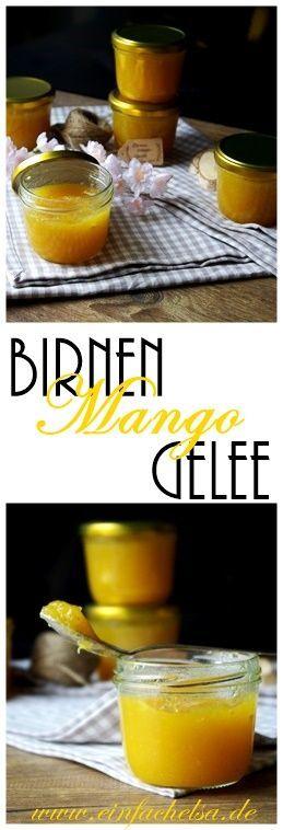 Wer noch Obst über hat und sich den Sommer ins Haus holen will, der ist mit der Birnen-Mango-Marmelade genau richtig - fruchtiges und super einfaches Gelee.