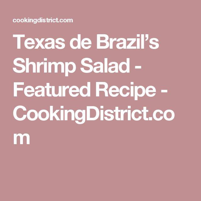 Texas de Brazil's Shrimp Salad - Featured Recipe - CookingDistrict.com