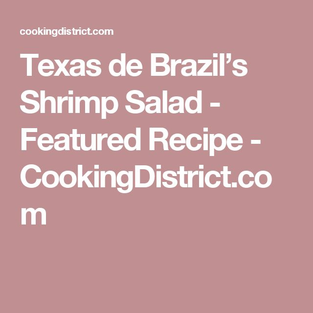 17 Best ideas about Texas De Brazil on Pinterest | Chimichurri sauce recipe, Chimichurri and ...