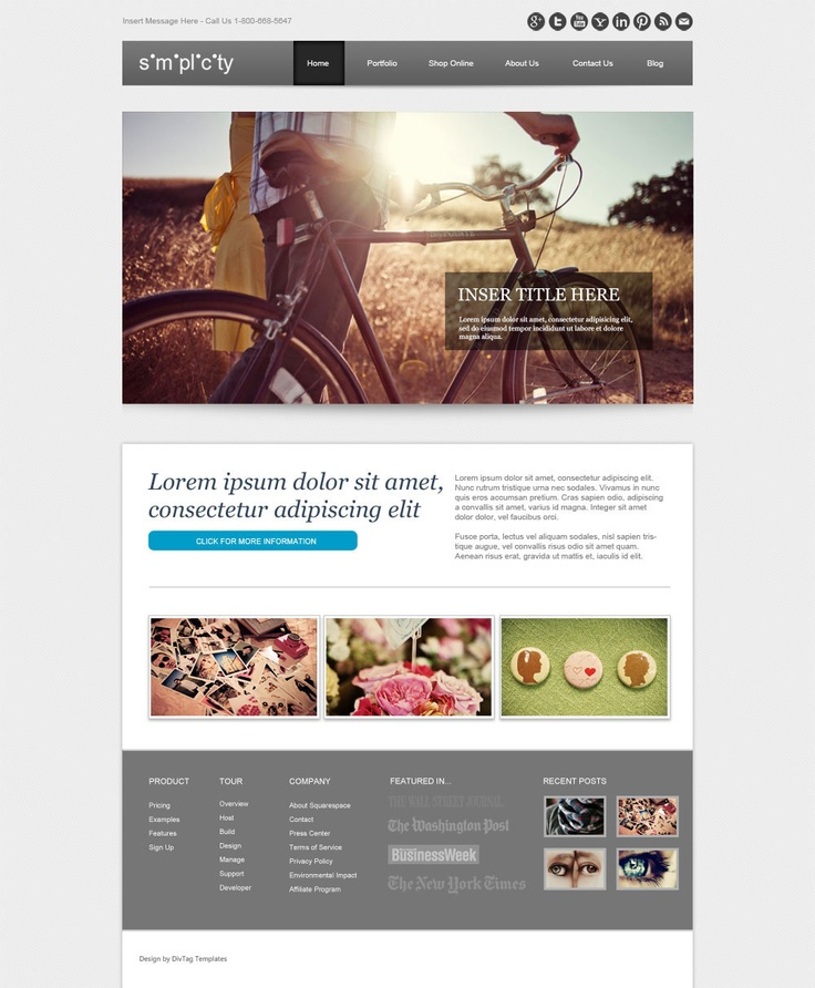 Beautiful Weebly Theme - Simplicity is a serious business design in a  traditional sense. But you can really lighten it up and differentiate this  design with ...