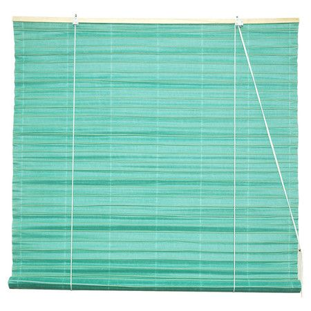 Rice paper window blind in light blue.  Product: BlindConstruction Material: Shoji rice paperColor: ...