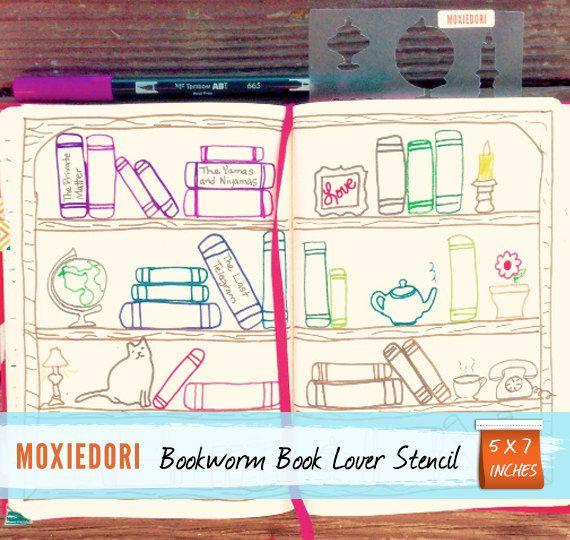 Dieser ist für die Leseratte. Eine Liste der Bücher zu lesen machen wollen, aber wollen nicht wirklich, dass es nur eine Liste der Bücher zu lesen sein? Mit dieser Schablone kannst du ein schönes Buch-Regal Romane Stift und schreiben Sie die Titel der Bücher auf dem Buchrücken gelesen werden. So schick! Verwenden Sie eine der Tchotchke Silhouetten um zu Ihrem Regal sowie zu schmücken. Bücherregal 2.0 enthält Kerze Teekanne Teetasse Topfpflanze Fotorahmen Lampe Katze Urne Telefon Globus 3…