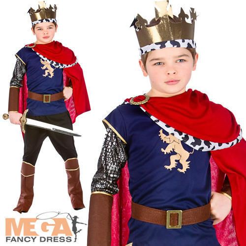 Medieval King Boys Fancy Dress Nativity Royal Renaissance Kids Childrens Costume in Clothes,