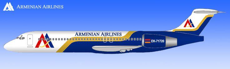 Armenian Airlines- Boeing 717-200, a June 2004 artist rendering