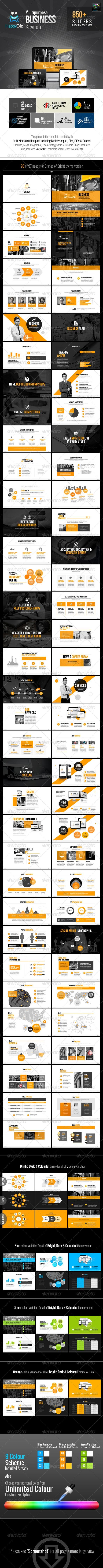 HappyBiz Multipurpose Keynote | Keynote theme / template
