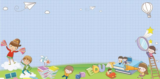 Cartoon Welcome New Students To Welcome The New Exhibition Board Background Cartoon Background Presentation Backgrounds School Cartoon