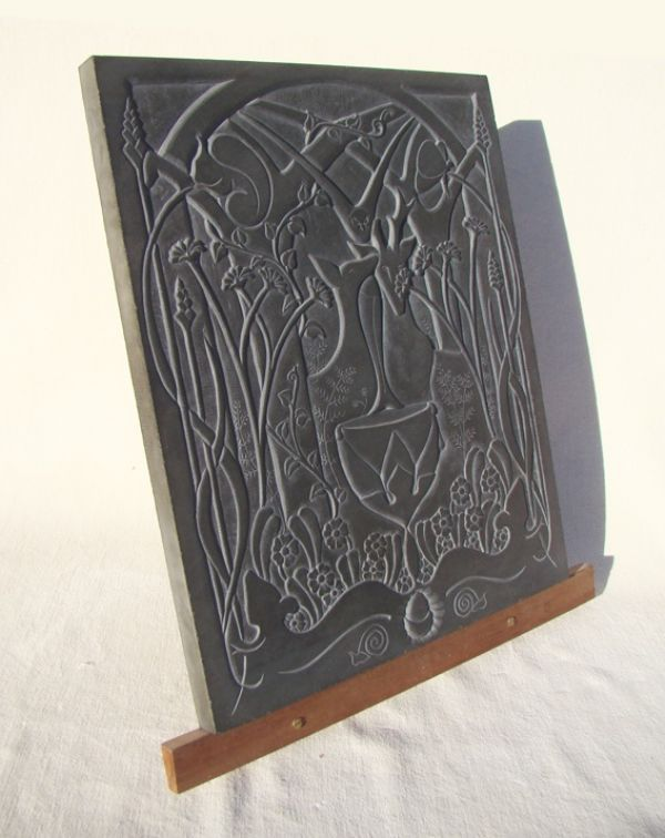 Hand Carved Aberllefenni Slate (welsh Slate) Wall Mounted Or Wall Hanging  Sculpture By Artist Jon Evans Titled: U0027Inspiration (Idyllic Woodland And  Animal ...