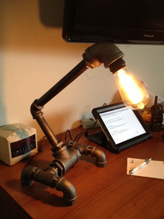 25 best ideas about gas pipe on pinterest diy pipe for Gas pipe desk lamp