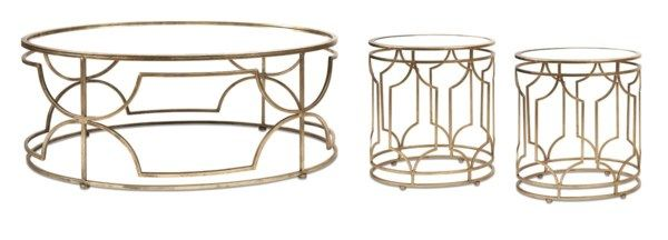 Designer Iffat Khan Translates Design Motifs Inspired By Her Global Travels Into A Classic Mirror Topped C 3 Piece Coffee Table Set End Table Sets Coffee Table