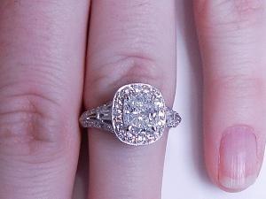 2.34 Cushion Cut Diamond ring!