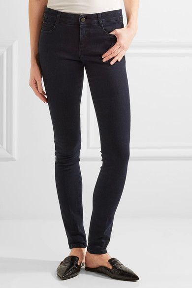 Stella McCartney - Mid-rise Skinny Jeans - Dark denim -