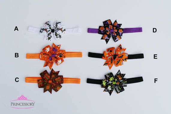 Halloween Baby Headband Halloween Hair Bows Infant by Princessory