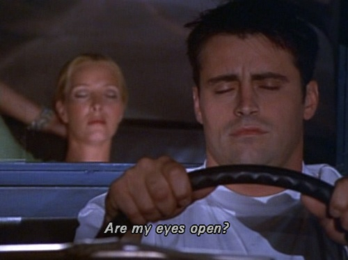 Joey & Phoebe driving back from Vegas