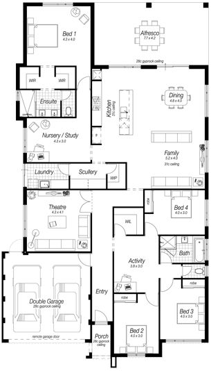 1000 ideas about single storey house plans on pinterest for Ross north home designs