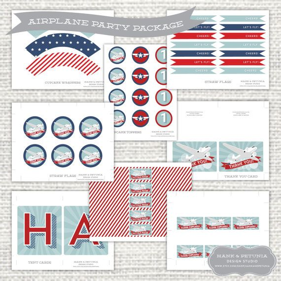 Vintage Airplane Party Printables Airplane Birthday Airplane: 77 Best Images About Vintage Airplane Party On Pinterest