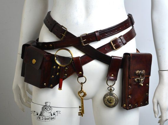 Ultimate steampunk belts kit by TimmyHog on Etsy