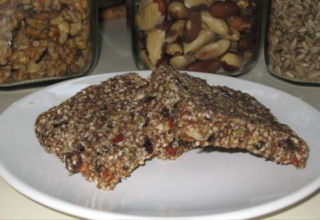 Raw Power Energy Bars--This yummy energy bar recipe is full of protein, healthy fats, low-glycemic carbs, vitamins, minerals and omega-3s—and will keep you going for a long time.