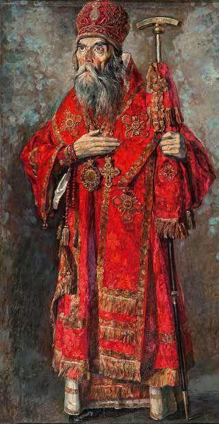 Metropolitan Trifon. 1929 - Pavel Korin (Russian, 1892-1967) - Tretyakov Gallery.