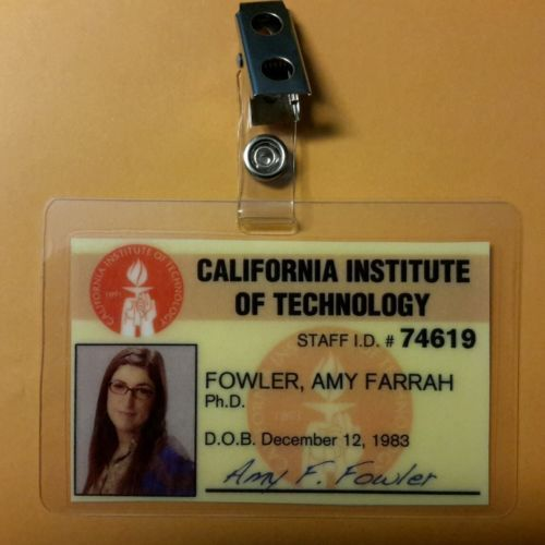 The big bang theory id badge- amy #farrah #fowler prop #costume cosplay, View more on the LINK: http://www.zeppy.io/product/gb/2/401022376033/