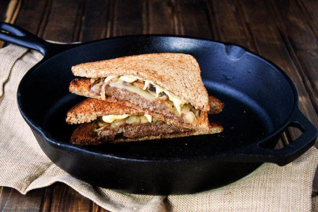 Mushroom and Swiss Patty Melts: Grilled Sandwiches for Two