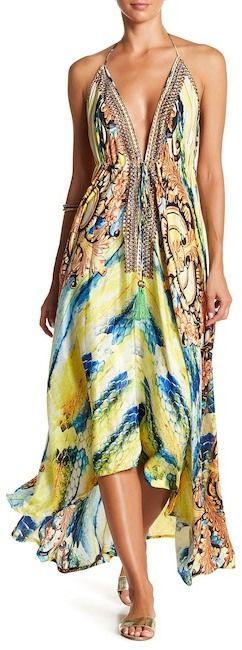 La Moda Halter Cover-Up Maxi Dress