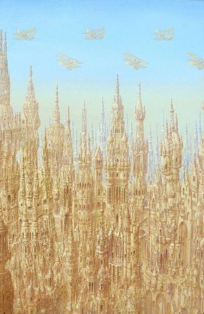Alister Lindsay Metrpolis Oils 9x13   Scottish Contemporary Art