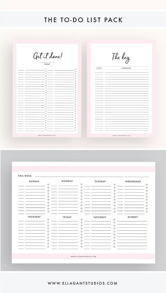 Planner essentials pack daily planner weekly planner