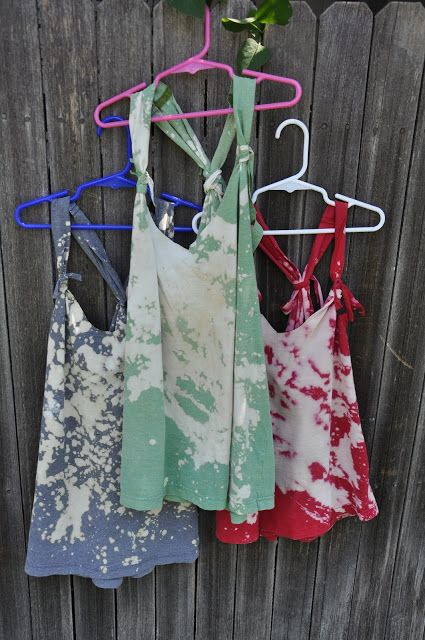 And finally, a supremely easy cover-up made from an old t-shirt and bleach. | 25 Awesome Swimsuit DIYs You Have To Try This Summer