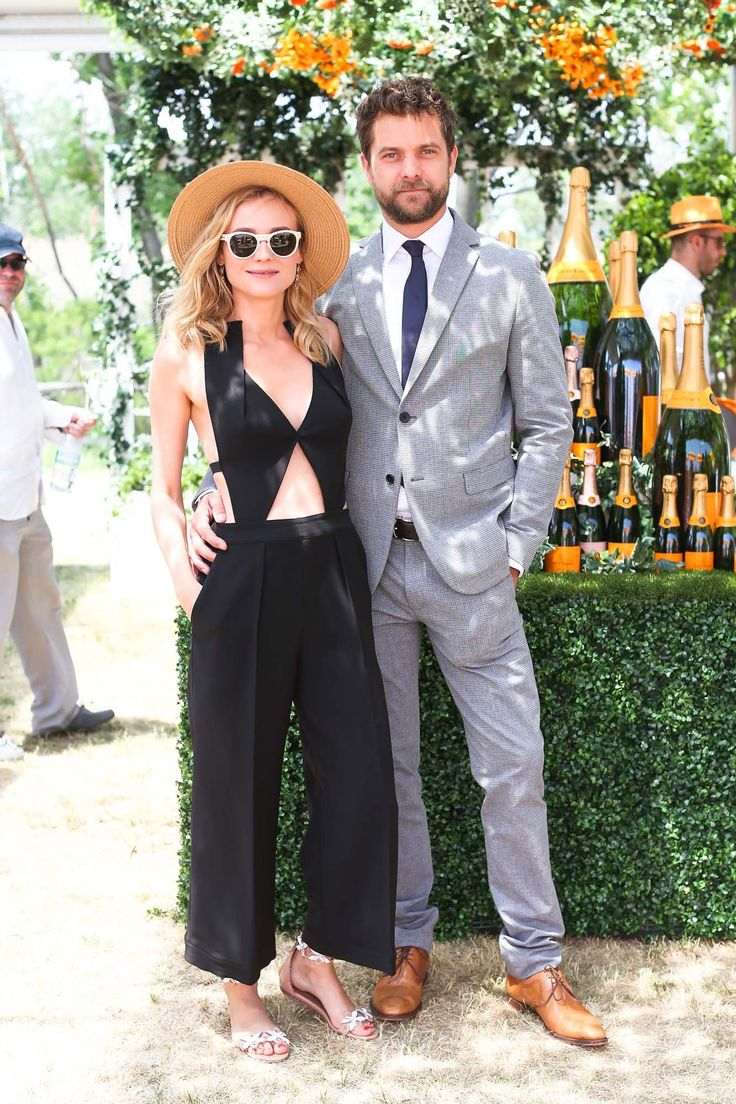 Stunning couple: Diane Kruger (in vintage Roland Mouret) and Joshua Jackson at the Eighth Annual Veuve Clicquot Polo Classic