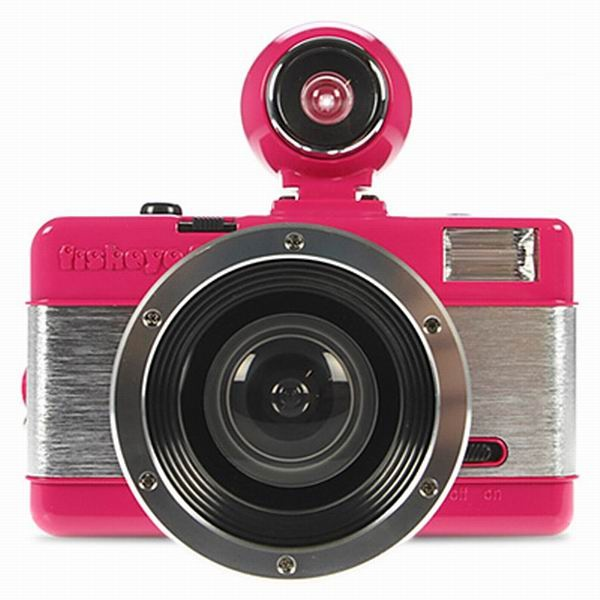 Pink Fisheye Lomo Camera via Lomo Camera Club