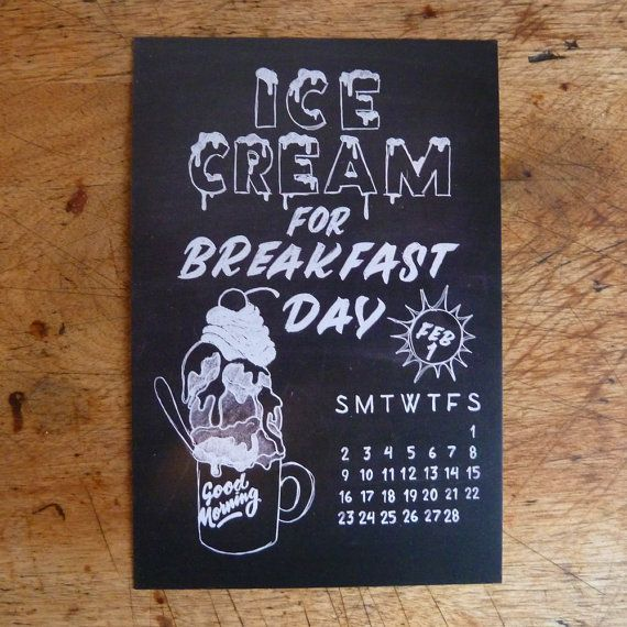 February is 'Ice cream for breakfast' month!
