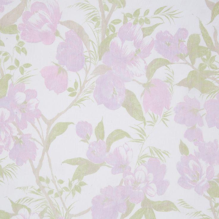 Italian Pink/Green Floral Crinkled Silk Chiffon Fabric by the Yard   Mood Fabrics