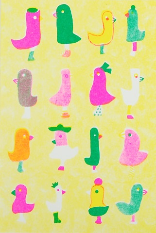 ひろせべに ポストカードセット E|恵文社一乗寺店: Prints Posters Illustrations, Bears Monkey, Birds Toys, Drawings Illustrations, Ducks, Bunnies, Draws Illustrations, Duckie, Illustration Animal