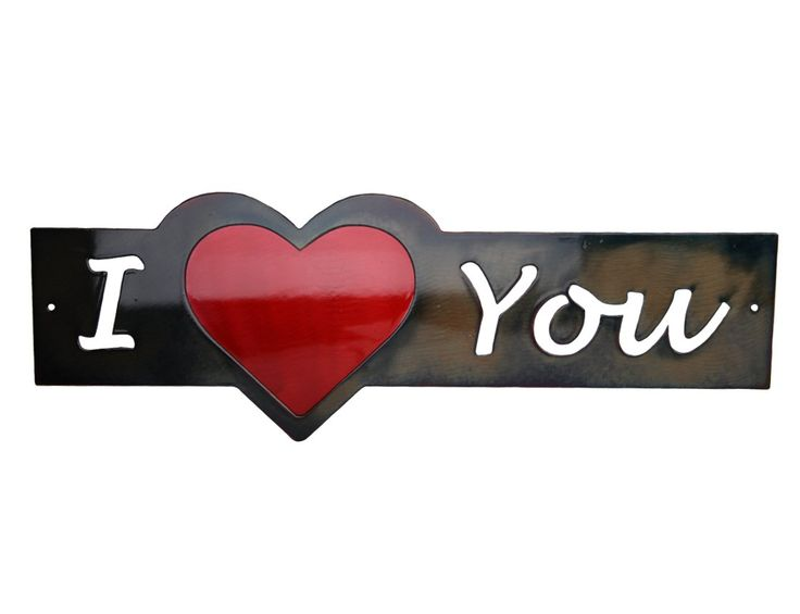 I heart you or I love you word art speaks the same language. This word art is for sale at the Red Pine Cone Boutique in downtown Bend.  #iheartyou #iloveyouart #iloveyou #decor #wordart
