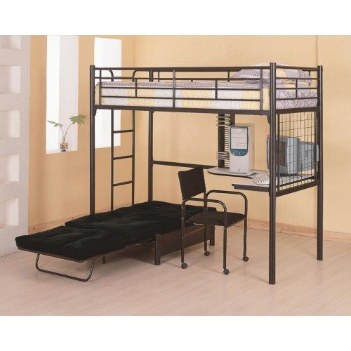 10 ideas about bunk bed with futon on pinterest dorm