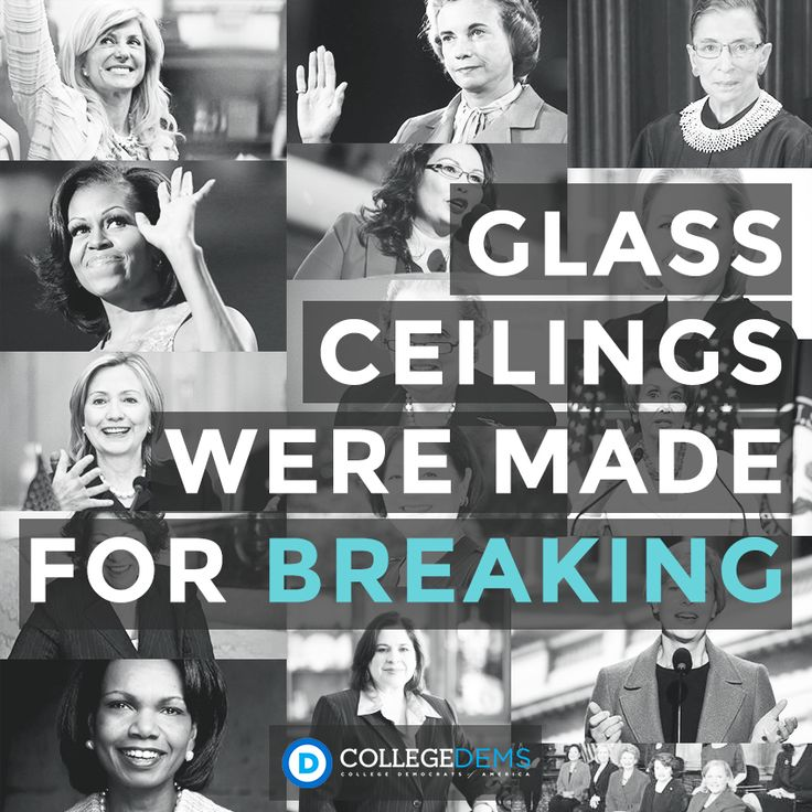 Let's break some glass ceilings