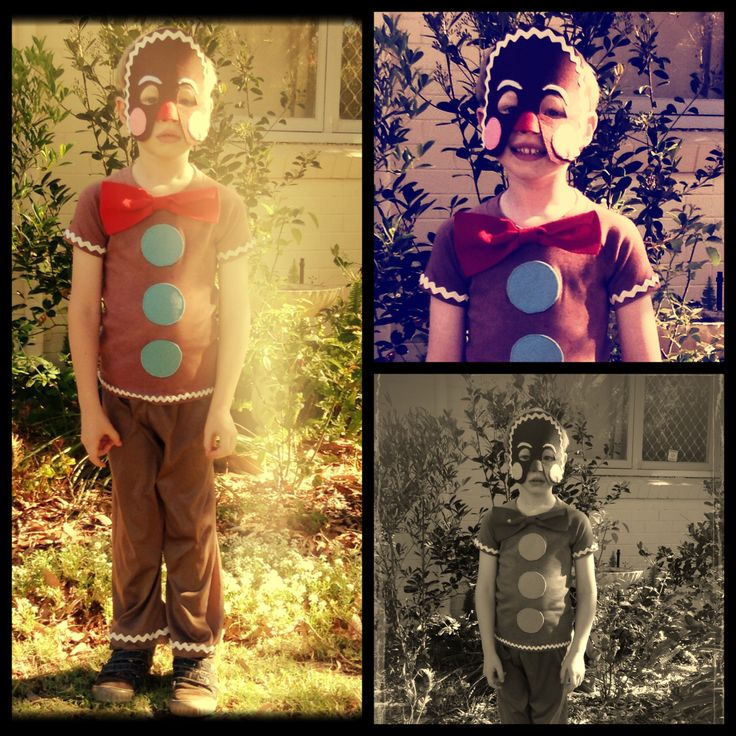 Gingerbread Man costume for my son for Fairytale Dress-up day @ school.