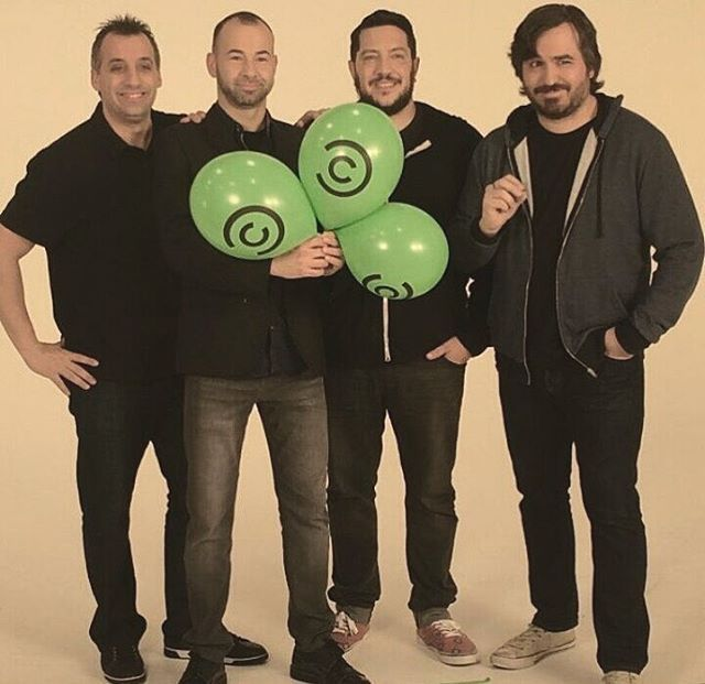 Impractical Jokers love this popping ballons on Comedy Central ❤️